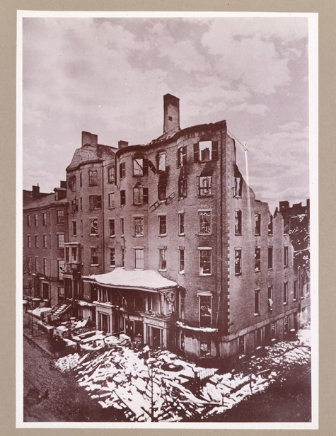 In April of 1864, the apartments of the second Masonic Building in Boston  were ...